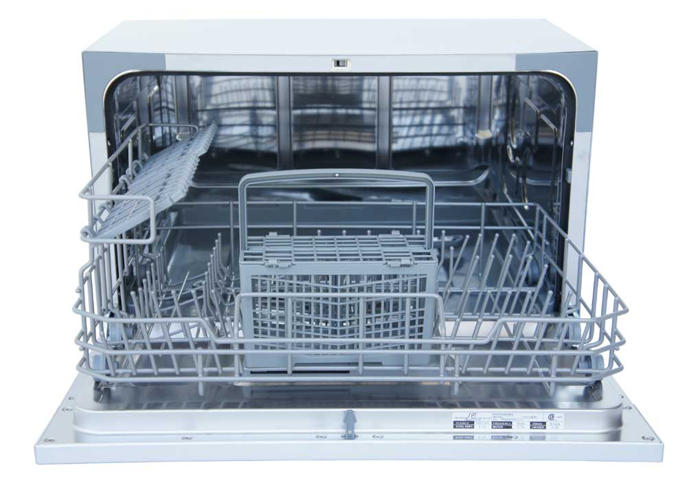 SD-2224DS: Countertop Dishwasher with Delay Start & LED - Silver